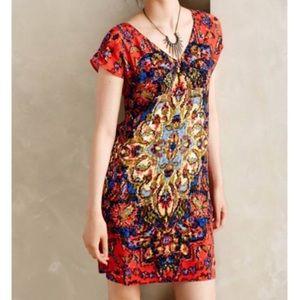 Anthropologie Maeve Medallion Shift Dress